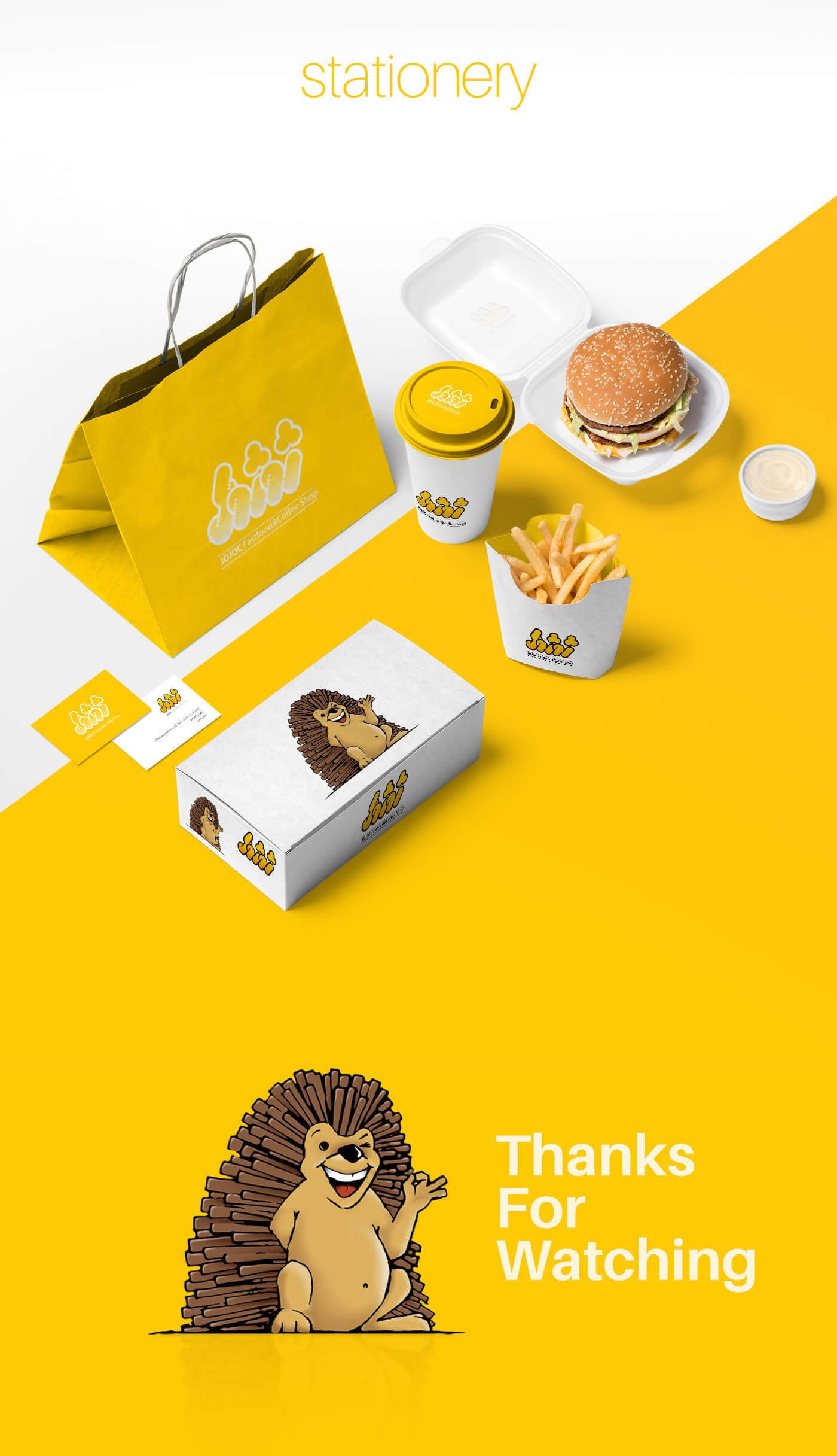 هویت بصری فست فود ژوژوک 3، هویت بصری رستوران ژوژوک، فست فود ژوژوک، هویت بصری، طراحی هویت بصری، شرکت تبلیغاتی الف، طراحی لوگو، طراحی لوگوتابپ، طراحی ست اداری، طراحی اوراق اداری