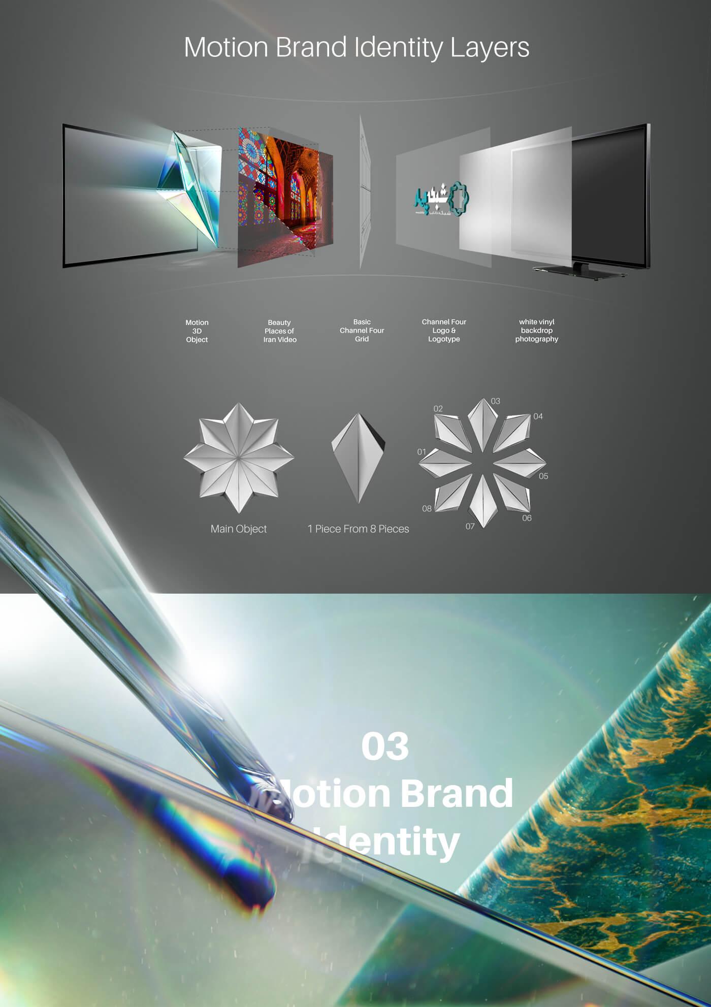 هویت بصری دو بعدی و سه بعدی شبکه چهار سیما 4 سری 3، دو بعدی و سه بعدی شبکه چهار سیما، هویت بصری، طراحی هویت بصری، شرکت تبلیغاتی الف، طراحی لوگو، طراحی لوگوتابپ، طراحی ست اداری، طراحی اوراق اداری