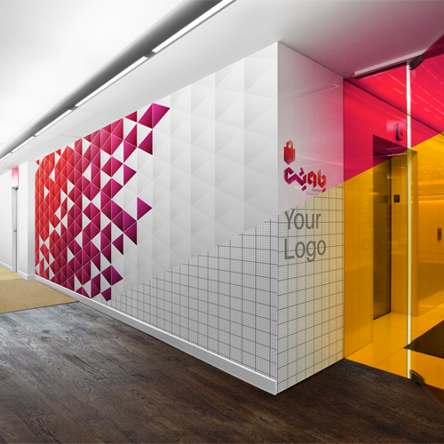 free download of wall mockup, free psd mockup, alef designagency, corporate identity